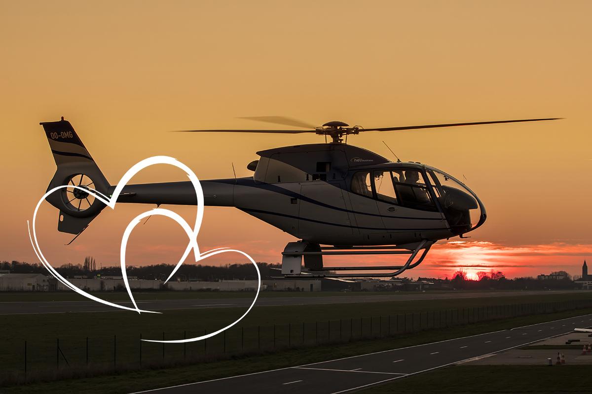 Helikoptervlucht Valentijn