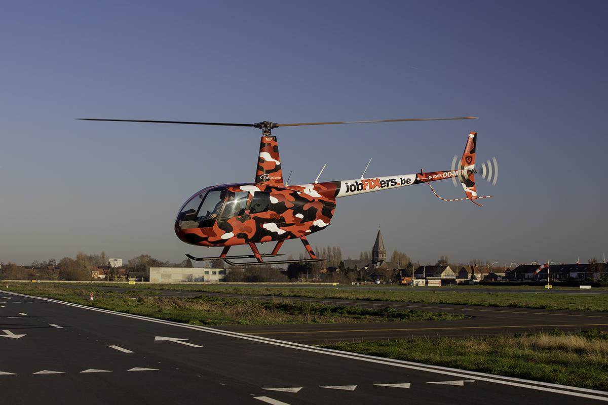 helikoptervlucht Wevelgem